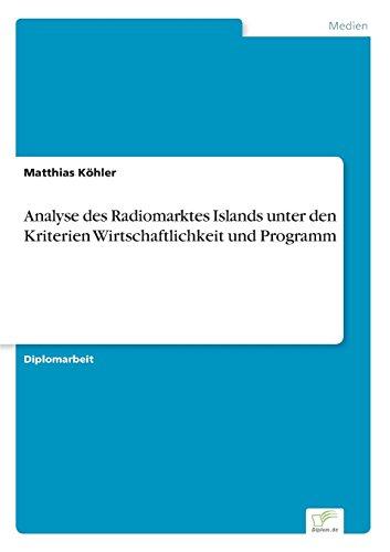 Analyse des Radiomarktes Islands unter den Kriterien Wirtschaftlichkeit und Programm
