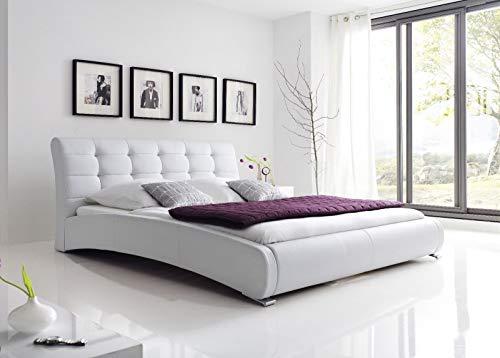 Schlichter Möbel Polsterbett Celine Komplettset 120x200 Weiß