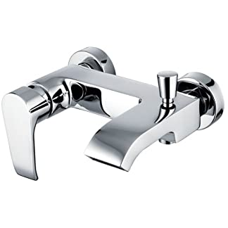 Clever Paula – Grifo baño ducha monomando empotrado a pared, sistema anti-quemaduras Cold Touch, y anti salpicaduras, 2 salidas de agua