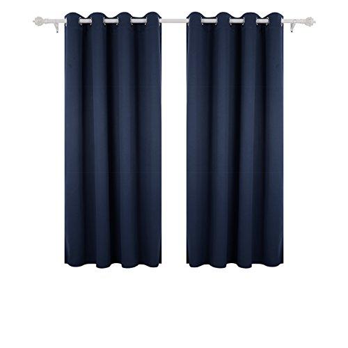 Deconovo tende da sole blackout tende moderno per tua casa 100% poliestere 117x138 cm blu navy 2 pannelli