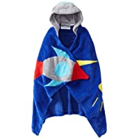 Kidorable Space Hero All-Cotton Hooded Blue Towel for Boys w/Fun Astronaut Helmet, Rocket