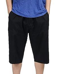 a851d138f531 Heheja Herren Bermuda Cargo Shorts Männer Vintage Kurze Hosen 3 4 Lang Mit  Seitentaschen