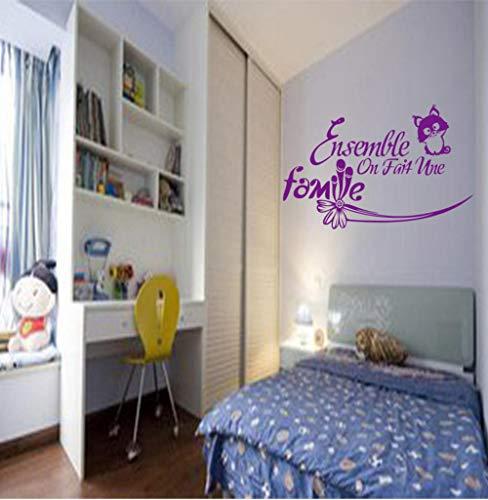 Aizaixinli Vinyl Wandaufkleber Ensemble Home Wandbild Applique Tapete Wohnzimmer Haus Dekoration 55 * 95 Cm -