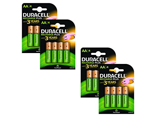 16x Duracell Plus AA Double A 1300mAh Rechargeable Battery Batteries 81367177
