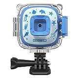 Dragon Touch Giochi Regali Bambini-Action Cam 1080P per Bambini, Sport Cam per 3 Anni - 12 Anni Bambini, Videocamera Fotocamera Impermeabile 30m, 3 Giochi, Kit Accessori, Regalo di Natale – Blu …