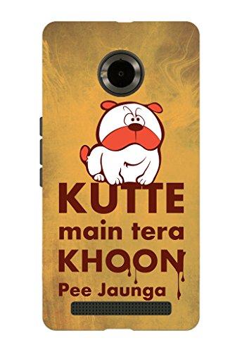 Kaira brand Designer Back Case Cover for Micromax YU Yuphoria (Dog)