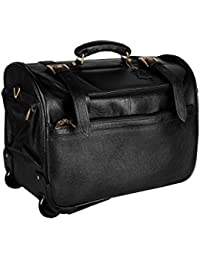 HugMe.Fashion Genuine NDM Leather Bag Travelling Luggage Bag For Men And Women In Brown Color TB17
