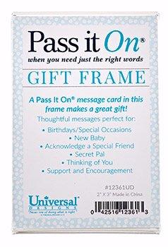 Pass It auf Acryl Geschenk Rahmen Vertikal [passend für Pass It auf Karten]
