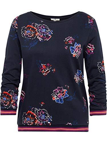TOM TAILOR DENIM Strick & Sweatshirts Sweatshirt mit Blumenmuster Navy Flower Allover Print, L