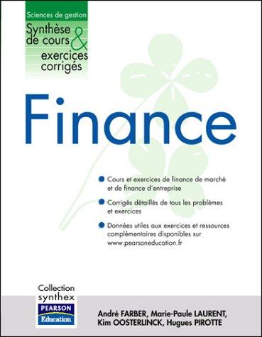 Finance : Synthèse de cours et Exercices corrigés