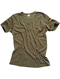 Original Bundeswehr Tropen T-Shirt Unterhemd khaki mit Hoheitsabzeichen