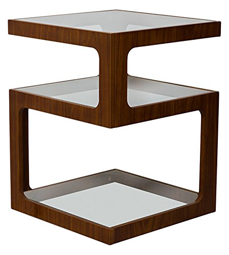 ASPECT Rossini Triple Level Side Table/Coffee Table/End Table/lamp Table (Walnut), Wood (Table Über Room Living Coffee)