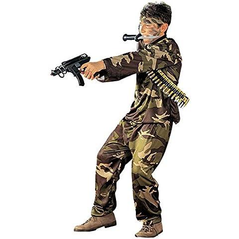 De los niños de la Fuerza Especial 158cm Costume Large 11-13 años (158cm) de Ejército Militar Guerra del vestido de