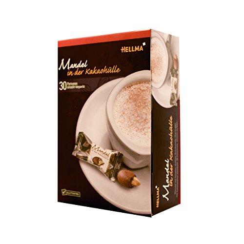 Hellma Mandel in der Kakaohülle, Kakao, Dunkle Schokolade, Einzeln verpackt, 30 Stück, 70101525 (Kakao Mandeln)