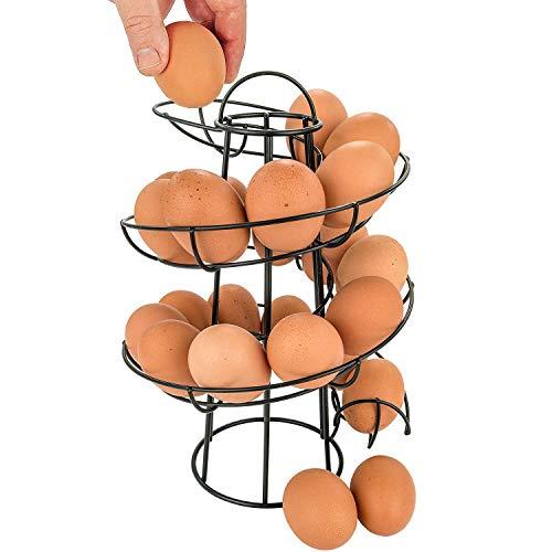 EPRHY Egg Skelter Deluxe - Dispensador de Huevos en Espiral, Color Negro, Talla única