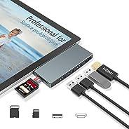 【Upgraded Version】 Surface Pro 4/Pro 5/Pro 6 Docking Station Hub with 4K HDMI Port+3 Port USB 3.0+SD/TF(Micro