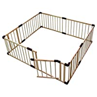 YXNN Baby Playpen For Baby & Toddler Safety Play Yard,Wooden 3 In 1 Indoor Children