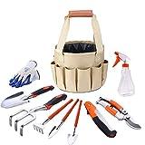 Sunbobo 9 PCE Garden Tools Set Gardening Kits Aluminiumlegierung einschließlich Handschuhe Tote und Astschere