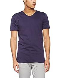 JAMES & NICHOLSON Men's Slim Fit V-T, T-Shirt Homme