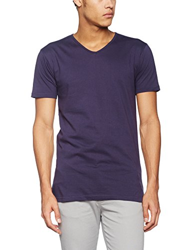 James & Nicholson Herren T-Shirt Men's Slim Fit V-t Rot (Aubergine)