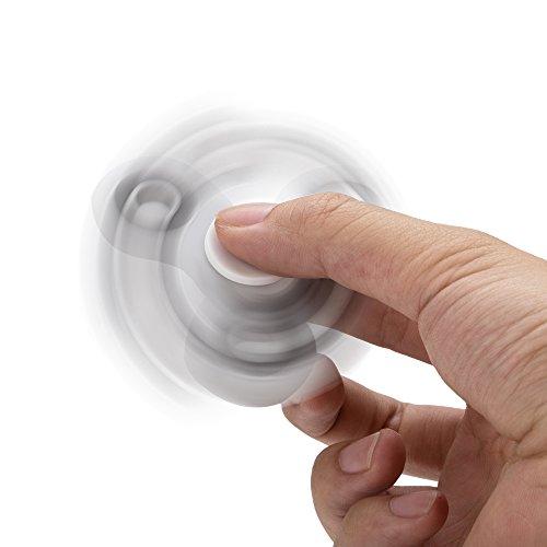 Fidget Tri (dreifach) Spinner Anti Stress Kreisel Hand Spielzeug in Weiß von VAPIAO -