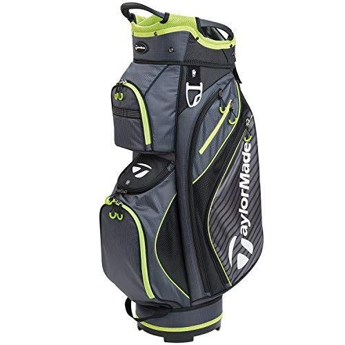 TaylorMade Golf 2018 Pro Cart 6.0 Cart Bag Mens Trolley Bag 14 Way Divider Charcoal/Black/Green -