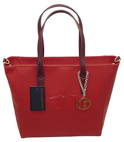 Borsa TRUSSARDI JEANS B552 handbag SHOPPING ischia ROSSO