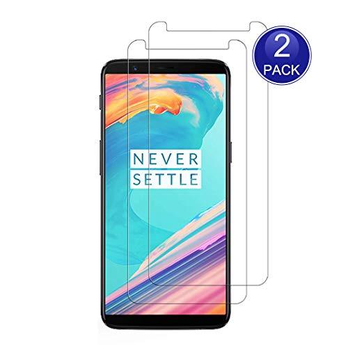 X-Dision [2 Stück Bildschirmschutzfolie für OnePlus 5T, 0,26 mm HD Schutzfolie, 9H Glas Schutzhülle, Anti-Kratz & Anti-Fingerabdruck (Hinweis: Nicht vollständig abgedeckt)
