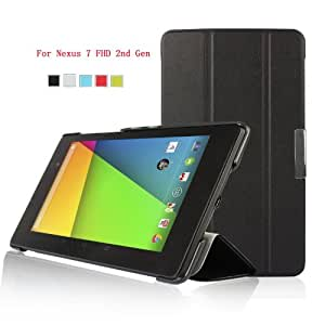 ELTD® Google Nexus 7 FHD 2nd GEN PU Leather Smart Case With Auto Wake / Sleep Function & Stand Function (For Google Nexus 7 FHD 2nd GEN, Black)