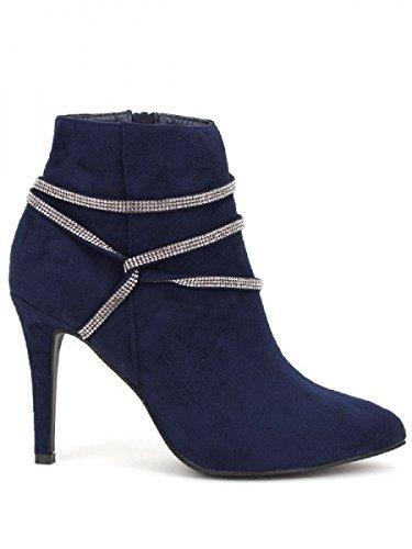 Cendriyon, Bottine Daim blue FDM MODA Chaussures Femme Bleu