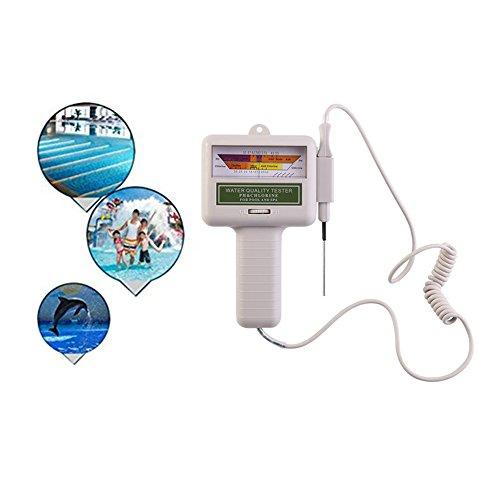 FJROnline Schwimmbadwasser-Qualitätsprüfer, tragbar, 2 in 1 pH & CL2 Chlor-Messgerät, Messgerät für Schwimmbad, Spa-Wasser, Wasserfeder