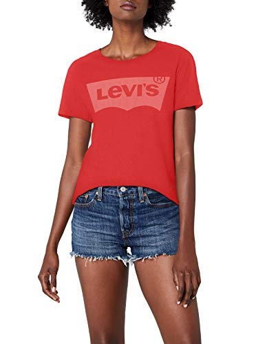 Levi's The Perfect Tee, T-Shirt Femme, Multicolore (Better Batwing PFD Poinsettia 0311), Large