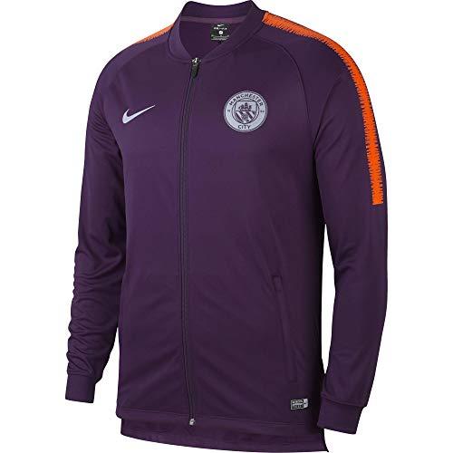 Nike MCFC M NK Dry SQD TRK Jkt K Jacke, Herren, Mehrfarbig (Night Purple/Safety Orange)