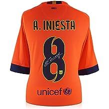 Barcelona firmada 15 2014 Iniesta del Camiseta de por visitante Andrés 6xYnOqHA