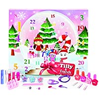 Tilly and Friends - Calendario de Adviento 24 días de belleza para niñas preadolescentes - Accesorios para maquillaje y pelo