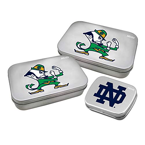 Worthy Promotional NCAA Notre Dame Fighting Irish Decorative Mint Tin 3-Pack with Sugar-Free Mini Peppermint Candies