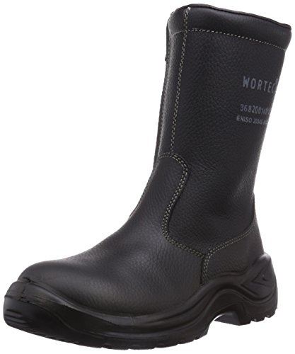 Wortec Dylan S3, Chaussures de sécurité mixte adulte Noir - Noir