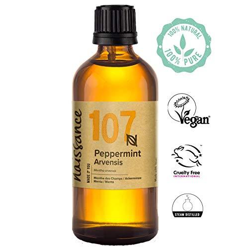 Naissance Peppermint/Ackerminze/Mentha Arvensis (Nr. 107) 100ml 100% reines ätherisches Minzöl -