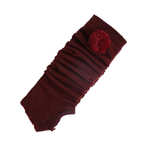 Rosennie Damen Gestrickt Bein Wärmer Yoga Socken Boot Abdeckung (Stiefel Und Super In Rot Mädchen Gold)