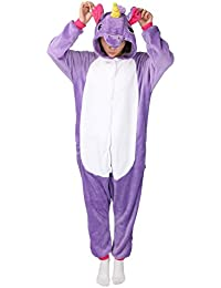 Pigiama Unicorno Cosplay Intero Unisex Animale Costume Halloween Carnevale Attrezzatura Festa Party Sleepwear Tuta- Mescara