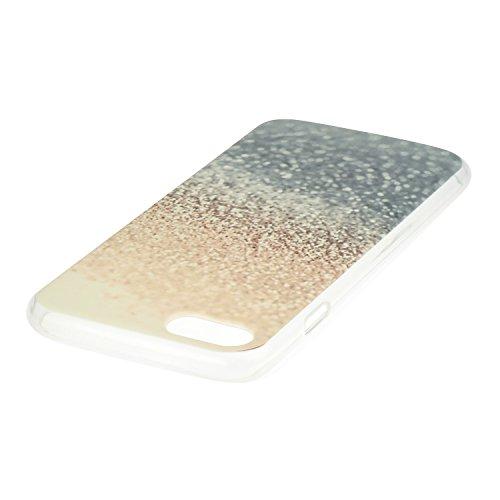 iPhone 7 Hülle,iPhone 7 Silikon Case,iPhone 7 Cover - Felfy Ultradünne Weicher Gel Flexible Soft TPU Silikon Transparent Hülle Schutzhülle Hülle Color Muster Farbmalerei Beschützer Hülle Handy Durchsi Wüste
