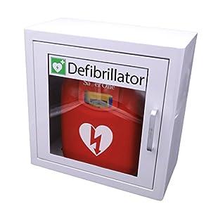 Saver One AED Defibrillator A1 (SVO-B0847) mit Metallwandkasten und AED-Standortwinkel