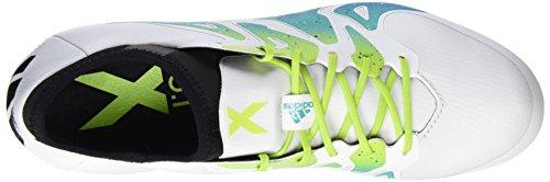 adidas Herren X 15.1 SG Fußballschuhe, Schwarz/Rosa, 42,5 EU Weiß / Grün / Schwarz (Ftwbla / Seliso / Negbas)