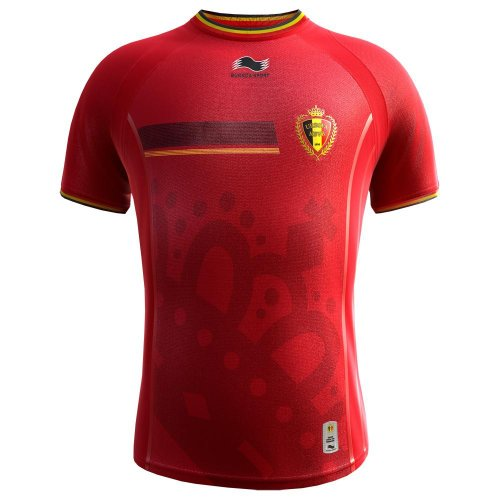 Burrda Sport Herren Fußball Home Trikot Belgien WM 2014 rot (500) XXL