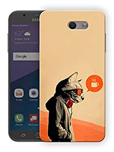 "Ulta Anda Trendy Cat Vintage Printed Designer Mobile Back Cover For ""Samsung Galaxy J7 2017"" (3D, Matte Finish, Premium Quality, Protective Snap On Slim Hard Phone Case, Multi Color)"