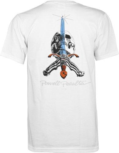 Herren T-Shirt Powell Peralta Skull & Sword T-Shirt White