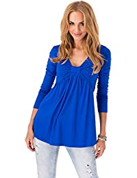 Ladies Elegant Casual Top Short Sleeve V Neck Open Back T-Shirt Size 8-12 FA392
