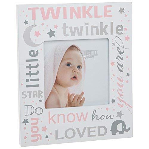 Twinkle Twinkle Little Star Bilderrahmen ~ Baby Girl rosa (Twinkle Little Star Baby-dusche Dekorationen)
