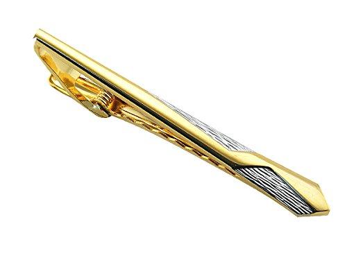 2C - Herren Krawattenklammer KRAWATTENNADEL silber gold