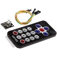 Bobury Kits del módulo de Control del Sensor Remoto Llaves electrónicas 2 Piezas de Infrarrojos inalámbricos Conjunto Compatible para Arduino